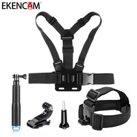 GoPro Accessories Set Selfie Stick And Head Chest With Strap Mount For Gopro Hero 5 4