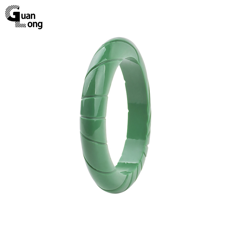 GuanLong Simple Resin Carved Bangle Jewelry 2017 kollektsioon Fashion Femme käevõrud & käevõrud Puseiras ehted