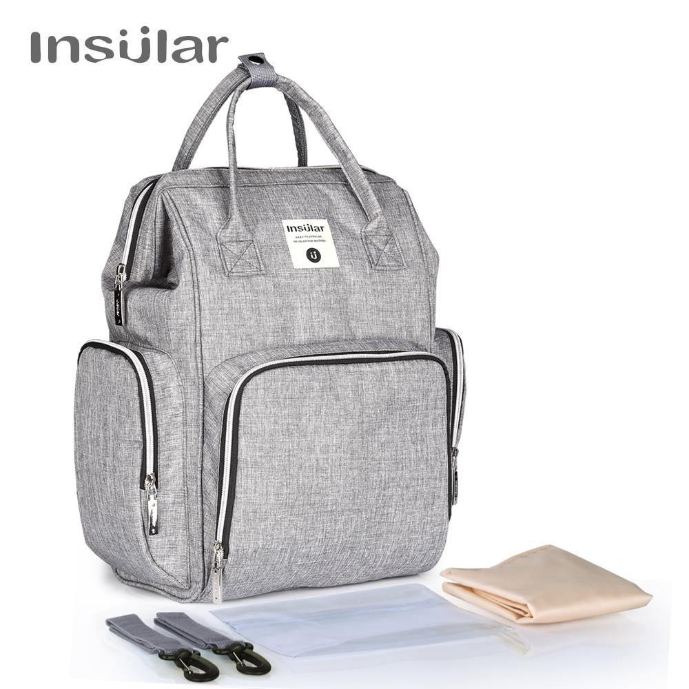 Insular Heavy Duty Baby Diaper Backpack  For Mom Backpack Maternity Bags For Mother Bag Baby Stroller Organizer Diaper Backpack