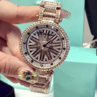 Rotate Crystal Dial Fashion Luxury Brand Diamond Women Rhinestone Watches Women Dress Watches Ladies Quartz Watches relojes