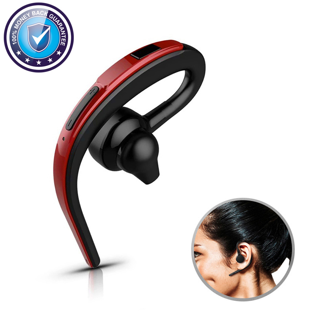 Bluetooth Earphone Wireless Headset Ear Hook Handsfree Car Business Headphones With Mic Earbuds Sport For iPhone PC Earpiece LG