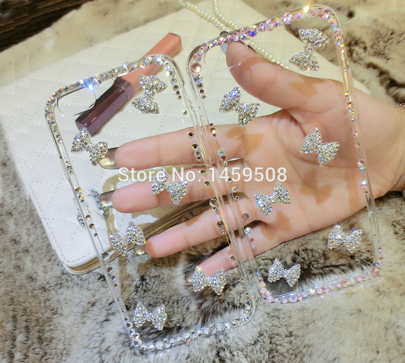 For MeiZu MX5 MX6 Pro 5 6 7 Plus M2 M3 M5 M6 M3s M3x mini M5s M6s M5C Note Max U10 U20 E2 E3 Bow Rhinestone Case Cover