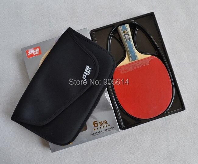 Ping Pong Table Tennis Racket Paddle Bat DHS 6002 NEW dhs 6002 long shakehand fl table tennis ping pong racket a paddle bag