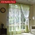 Современный тюль  занавески для гостиной  зеленые листья  отвесные занавески для спальни  вуаль  на окно кухни  занавески  затемненный драп