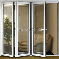 Aluminium Bi folding Exterior Doors, Aluminum Folding Door Systems, Exterior Aluminium Folding Doors With Double Glazing