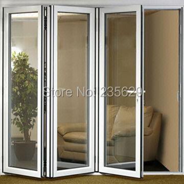 bi aluminio plegable puertas exteriores plegable de aluminio en sistemas de puertas exterior de