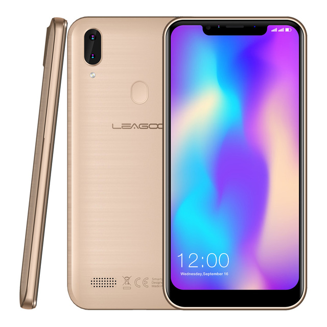 "LEAGOO M11 Smartphone 6.18"" FW+ IPS 4000mAh 2GB+16GB Android 8.1 MT6739 Quad Core Rear Fingerprint Rapid Charge 4G Mobile Phone"