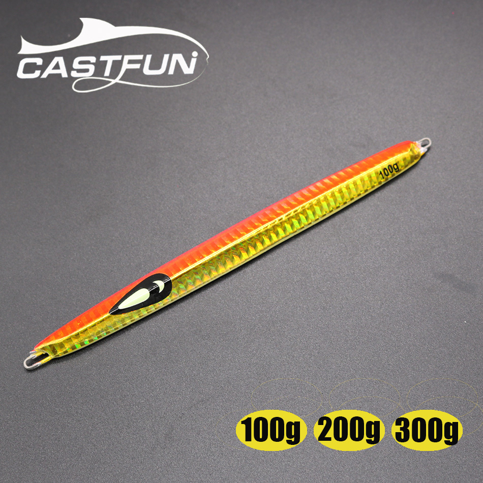 CASTFUN 1pc Fishing Metal Jig 100g 200g 300g Metal Jigging Lure Speed Jig Jerkbait For Saltwater Fishing Hard Bait castfun vertical jig lure saltwater jigging lure 4pcs lot 200g speed jig hard baits fishing lures