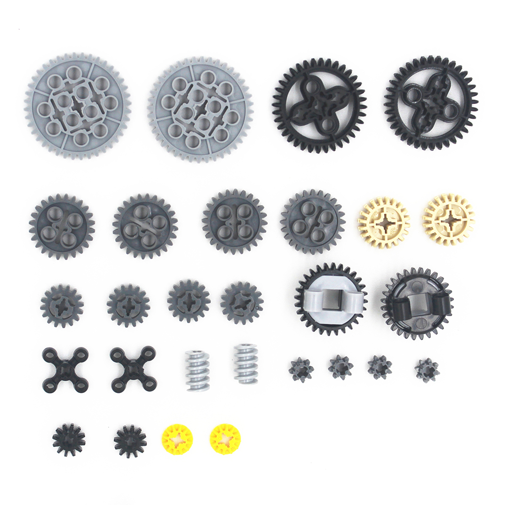 MOC Technic Parts 28pcs Technic Gears Assortment  Pack  Compatible With Lego For Kids Boys Toy