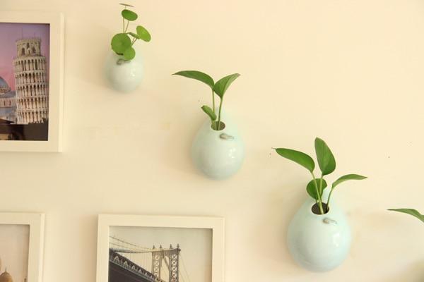 European style creative ceramic flower vase wall hanging water vase ...