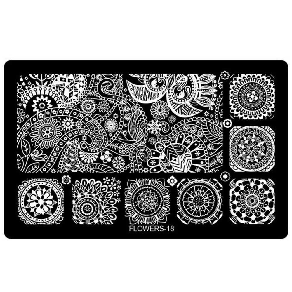 1pcs new 20designs nail art stamping plates lace designs templates 1pcs new 20designs nail art stamping plates lace designs templates nail stamp stencils diy polish manicure tools trflower 1 in nail art templates from prinsesfo Choice Image