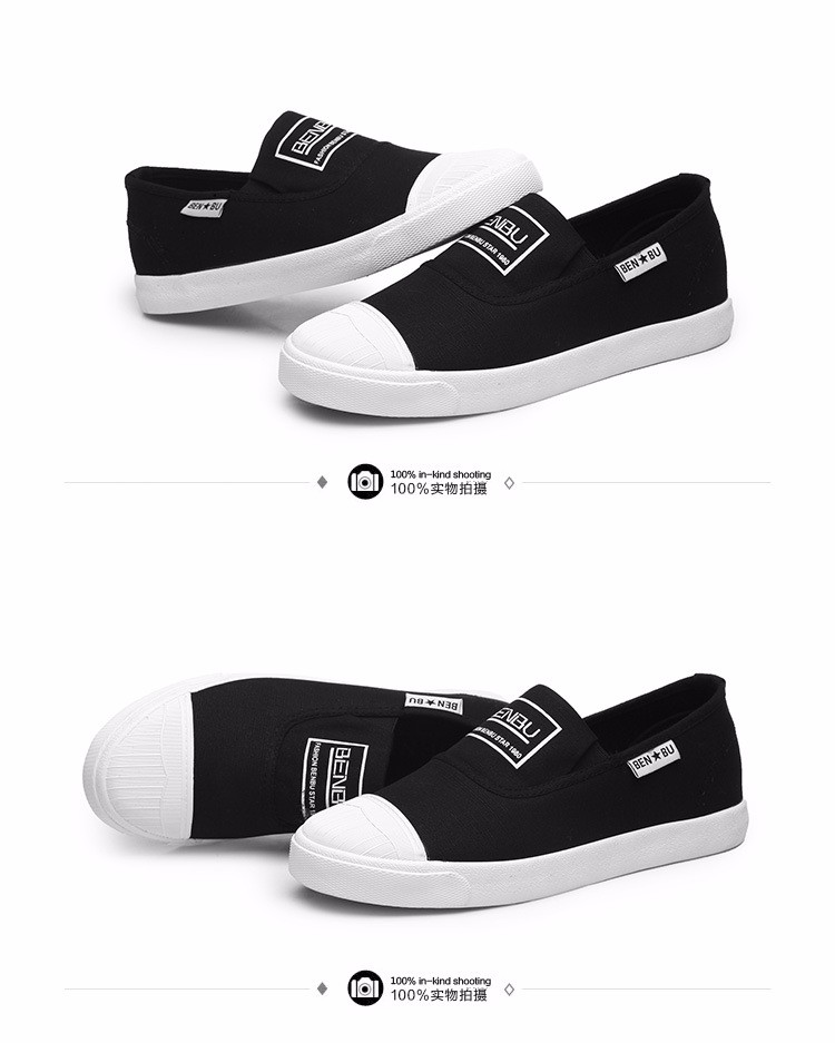 KUYUPP Brand New Woman White Shoes 2016 Summer Casual Flat Slip On Canvas Shoes Round Toe Women\'s Flats Big Size 35-40 PX107 (20)