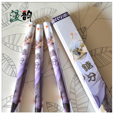 6pcs Japanese anime Cute creative Gintama Sakata silver black Gel pen signing pen Anime around Each is individually packaged