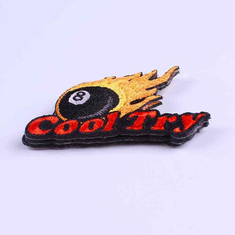 Pulaqi diy remendos bordados para roupas de ferro em remendos para roupas letras diy punk remendo applique adesivos decoração f