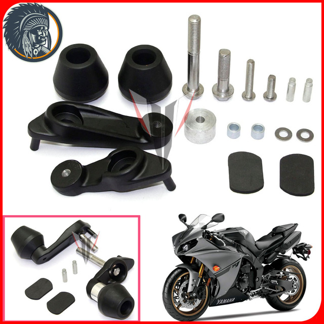 Motorcycle Racing No Cut Crash Pads Fairing Frame Protectors Slider Fit For  2009 2014 Yamaha YZF R1-in Falling Protection from Automobiles & ...