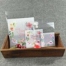 50/100 Uds./lote bolsa de regalo de plástico transparente para hornear galletas dulces autoadhesiva para la fiesta de cumpleaños de la boda bolsa de embalaje