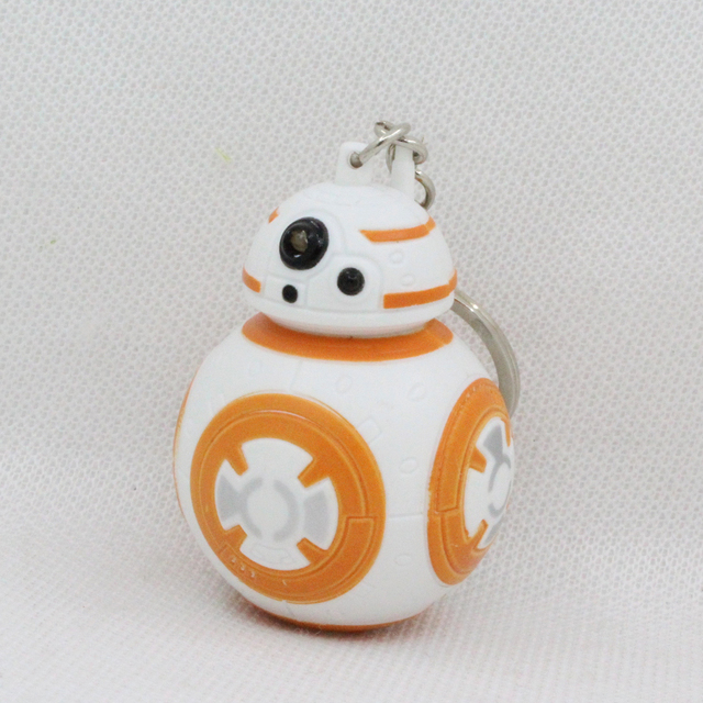 Star Wars Droid Robot LED Keychain Keyring