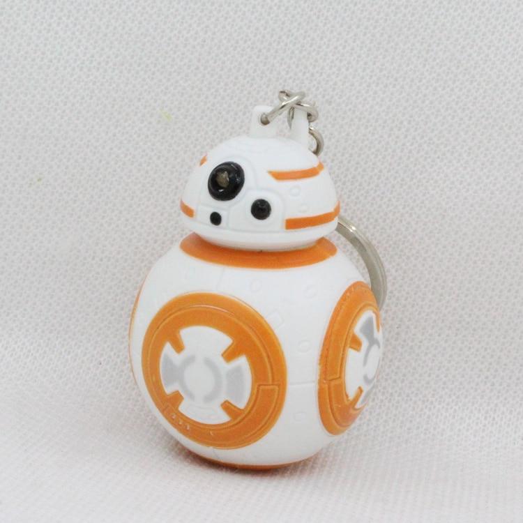 New <font><b>Star</b></font> <font><b>Wars</b></font> <font><b>The</b></font> <font><b>Force</b></font> <font><b>Awakens</b></font> BB8 BB-8 R2D2 Droid Robot LED keychain Action Figure stormtrooper Clone Strap New year toys