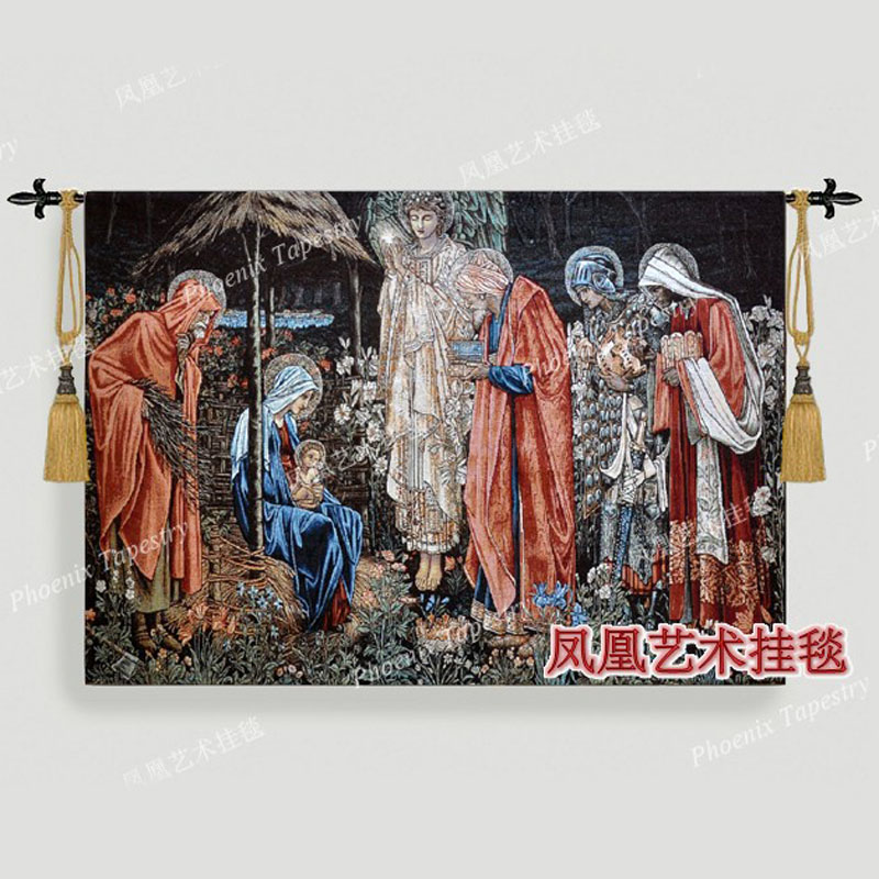 William Morris Three King visiting Best gift tapestry 98 139cm Wall hanging home textile decoration Jacquard