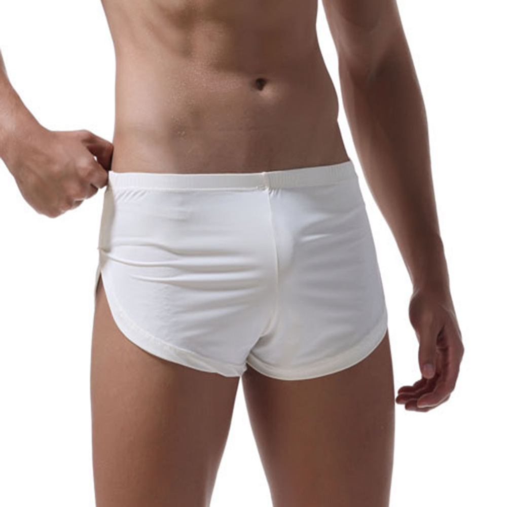 Pants Shorts Ice-Silk Comfortable Sexy Gay Home Men's Arrow Boxers Europe-Size