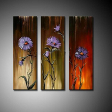 Beautiful modern abstract  art oil painting on canvas purple flower Painting home decoration (No frame)