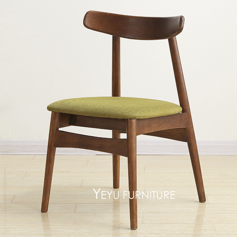 Minimalist Modern Design Solid Wooden Padded Dining Chair