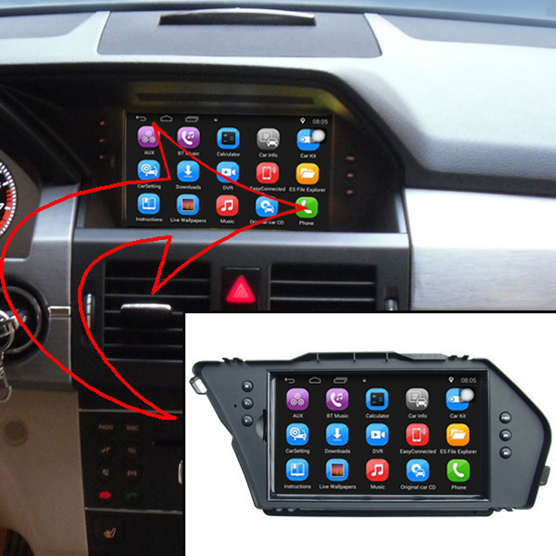 buy 7 inch capacitance touch screen car media player for mercedes benz glk gps. Black Bedroom Furniture Sets. Home Design Ideas