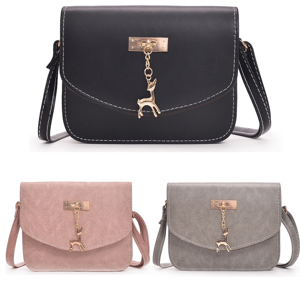 INS Hot sell Women's best gift Fashion deer Casual Tote Canvas Shoulder Bags&Handbag+Clutch Wallet x# dropship