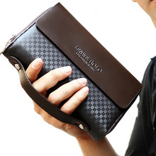 New Arrive Fashion Men's Wallet Large Capacity Business Long Male Clutch Wallets Bag Brand Double Zipper Coin Purse Card Holder