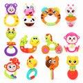 Adorável 12 Zodíaco Chinês Animal Handbells De Plástico Bebê Developmental Toy Rattle Sinos Cama Crianças Brinquedos Educativos Brinquedos do Bebê da Agitação da Mão