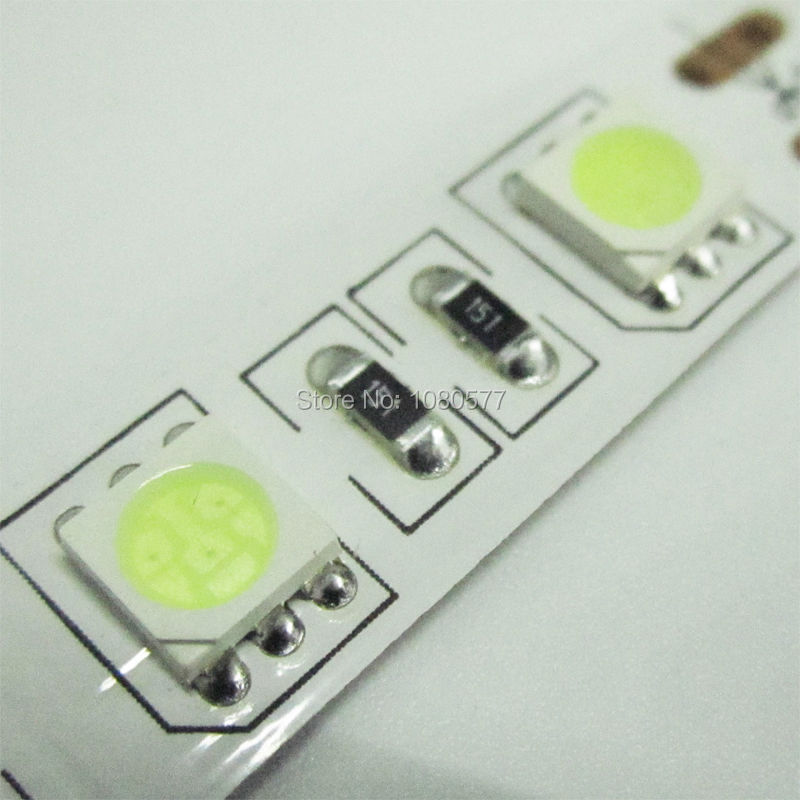 Wholesale LED Strip 5050 DC12V Flexible Light 60LED/m 5m/roll, Ice Blue Non-Waterproof 5050 LED Strip
