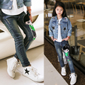 The New Year, spring and autumn kids clothing casual jeans pants, Cartoon image girls fashion jeans + girl ripped jeans.