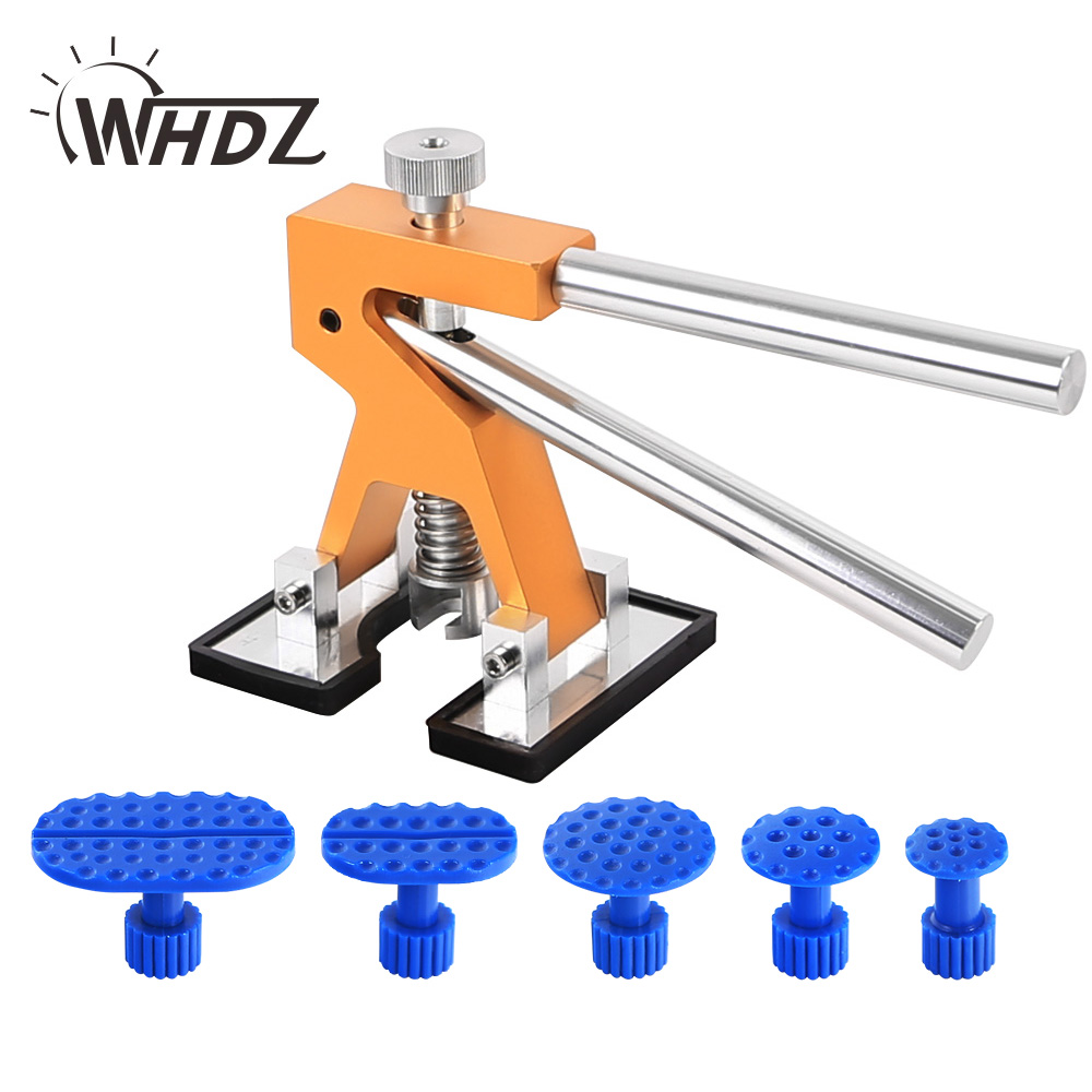 WHDZ Mini Dent Lifter Puller Paintless Dent Repair Tools Set PDR Golden Dent Lifter Hail Repair Dent Removal PDR Tools