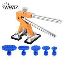 WHDZ mini dent lifter puller Paintless Dent Repair Tools Set PDR Golden Dent Lifter Hail Repair Dent Removal PDR Tools
