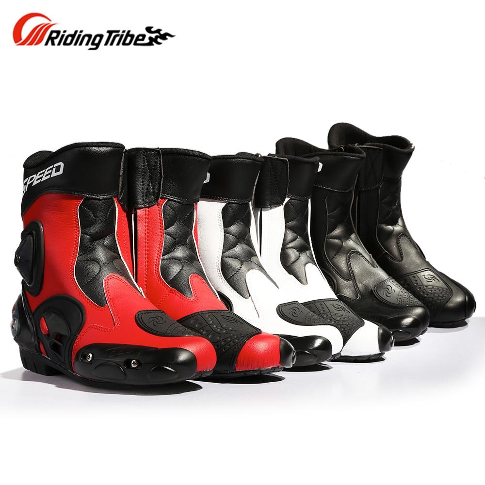 цена на Riding Tribe Motorcycle Boots Shoes Motocross Botas Moto Motoqueiro Motocicleta A00469 Botte Botas Para Moto Men