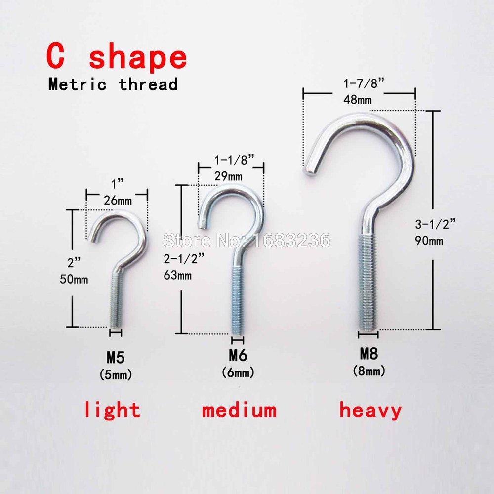 2/5/10pc Metric Thread Steel Picture Frame Plant Lamp Light Curtain ...