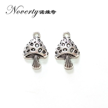 2017 New 10pieces 26*17mm Zinc Alloy Silver Mushroom Charms Pendant Linker for DIY Necklace Bracelet Jewelry Accessories