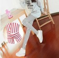 Женщины Леггинсы Люминесцентные шелк молока леггинсы вертикальные полосы колено брюки сплайсинга Корея весна/лето тонкий ноги карандаш брюки