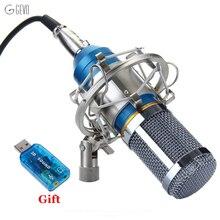 BM 800 Microphone À Condensateur Studio D'enregistrement Professionnel Filaire Mic BM-800 Avec Métal Shock Mount Pour Ordinateur Vidéo D'enregistrement