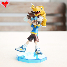Love Thank You Digimon YAGAMI TAICHI Agumon 10 cm PVC Anime Figure Toy Collection model gift New Hobby with opp