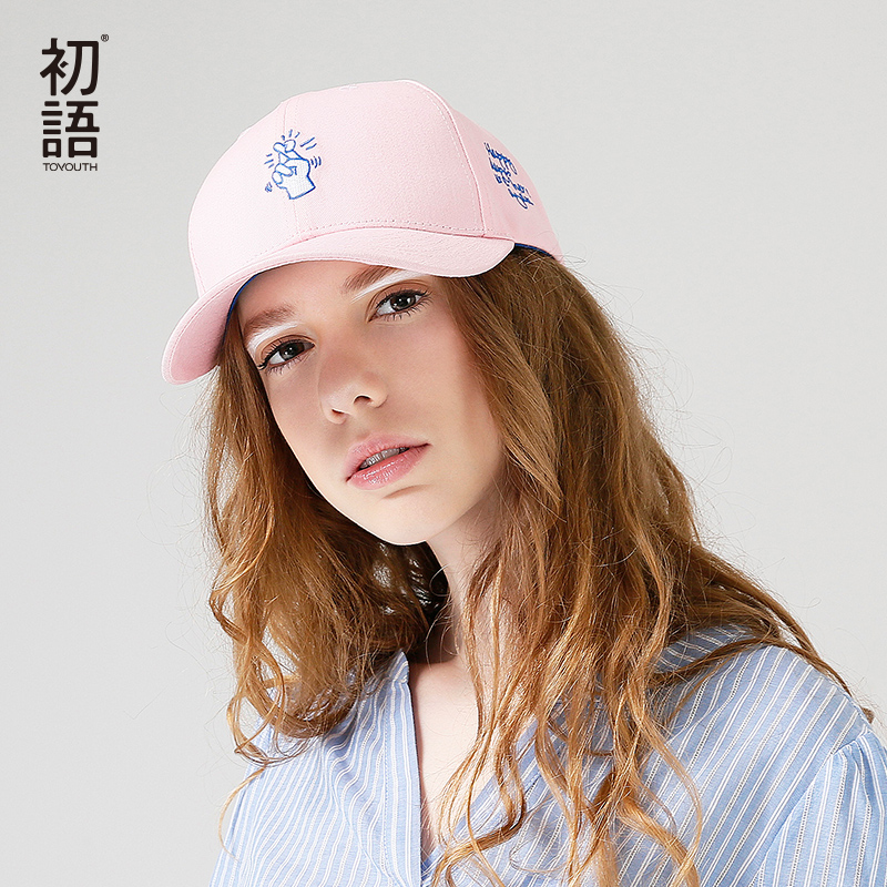 Toyouth Baseball Cap 2017 Women Funny Embroidery All Match Casual Cotton Adjustable Hat Outdoors women cap skullies