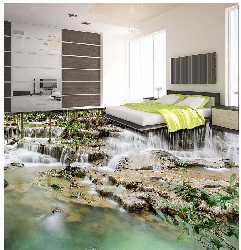 3d Stereoscopic Mural Wallpaper Photo Floor Wallpaper 3d Stereoscopic 3d Nature Waterfalls