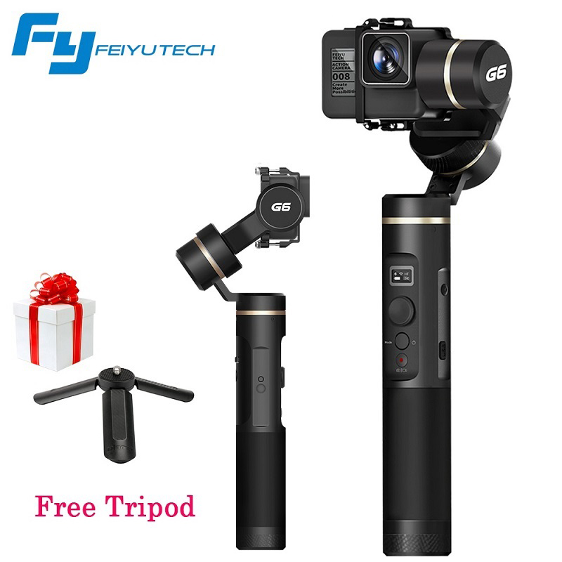 FeiyuTech Feiyu G6 3 Axis Gimbal Handheld Stabilizer for Action Sport Camera Wifi Bluetooth for Smartphone Hero 6 5 4 RX0 x cam sight2 2 axis smartphone handheld stabilizer mobile phone brushless gimbal with bluetooth for iphone samsung xiaomi nexus
