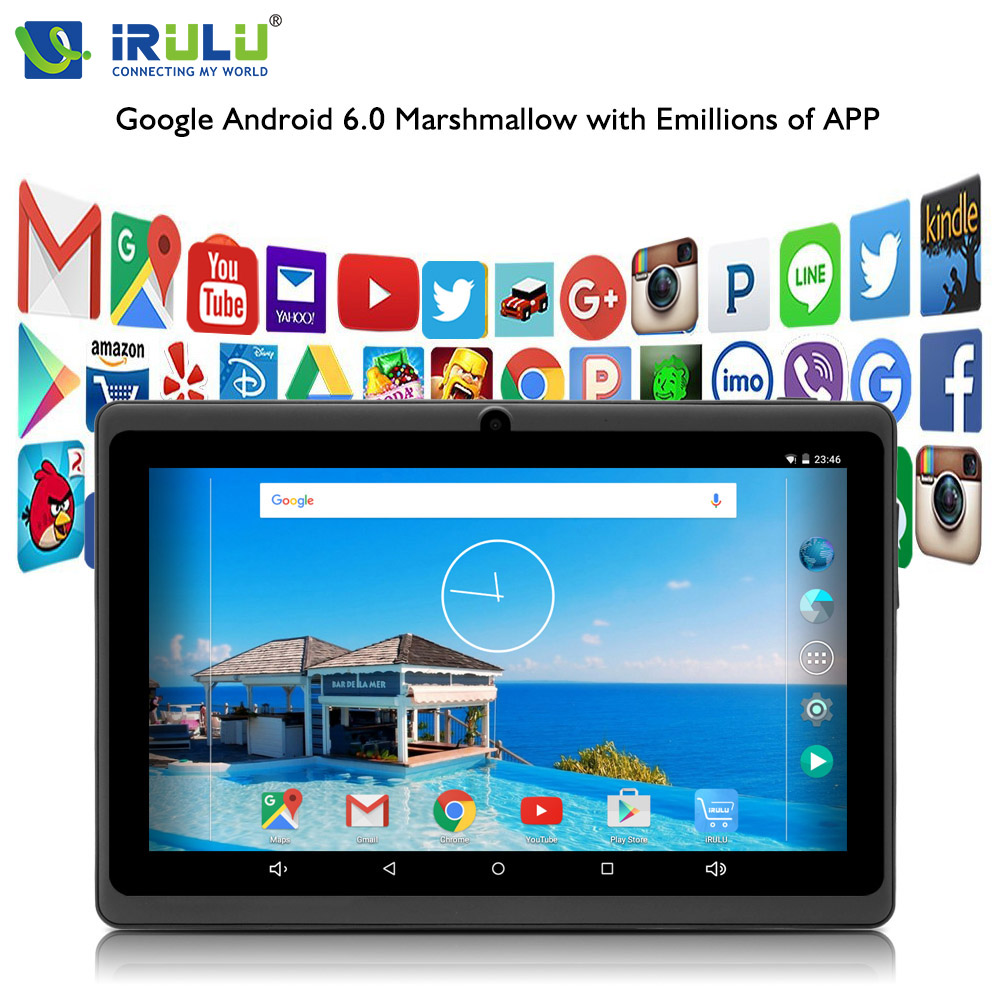 iRULU eXpro X3 7 Inch Tablet PC Android 6.0 Quad Core 8GB ROM Dual Cam 1024*600 HD Eyeshield Screen Wifi Game Play Gift For Kids цена 2017