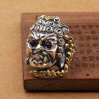 S925 czystego srebra Thai srebrny rzemiosła ozdoby osobowości mężczyzna przywracając dawne sposoby, które jest otwarcie palec pierścionek
