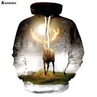 2017 Men S 3D Hoodies Elk Printed Sweatshirt Men Casual Streetwear Harajuku Hoodie Women Couple Creative