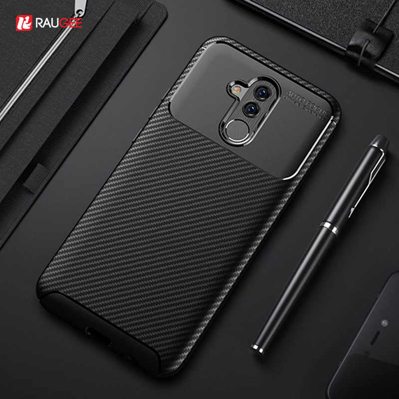 Case For Huawei Mate 20 Lite Cover Silicon Carbon Fiber Splice Case On For Huawei Mate 20 Lite P20 Pro Lite Honor 10 10 lite 20 image