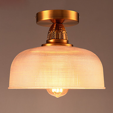 Copper Retro Vintage LED Ceiling Lights Fixtures Living Room Cafe Loft Industrial Lamp LED Ceiling Light Edison Home Lighting