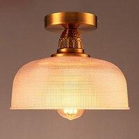 Kupfer Retro Vintage LED Deckenleuchten Leuchten Wohnzimmer Cafe Loft Industrielle Lampe Led-deckenleuchte Edison Hause Beleuchtung