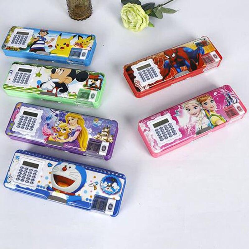 Kawaii Pu Pencilcases Big Zipper Estuches School Pencil Box Pen Bag Pencil Bag School Supplies Stationery